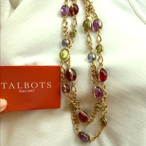 Talbots double strand jewel tone necklace. Fab !